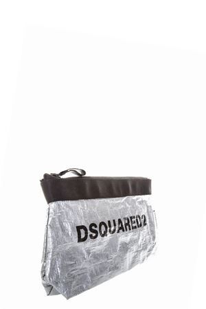 SILVER MAKE-UP BAG WITH BLACK DSQUARED2 LOGO FW 2018 DSQUARED2 | 2 | BYW0002081000012137