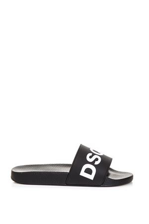 BLACK DSQ2 SLIPPERS IN RUBBER FW 2018 DSQUARED2 | 87 | FFM0101107200001M063