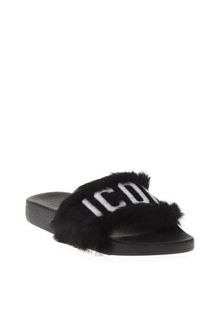 BLACK LEATHER SLIPPERS FW 2018 DSQUARED2 | 87 | FSW0023315000012124