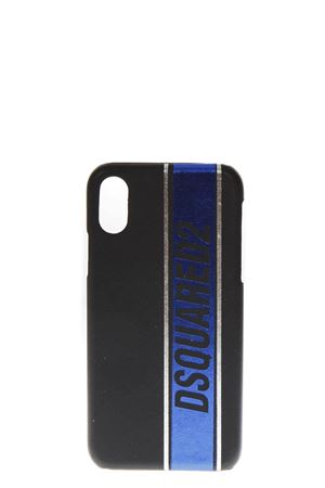 BLACK & BLUE IPHONE X COVER WITH LOGO FW 2018 DSQUARED2 | 5 | ITM003735801513M041