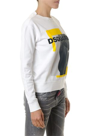 HORSE PRINT WHITE COTTON SWEATSHIRT FW 2018 DSQUARED2 | 19 | S72GU0165S25305100