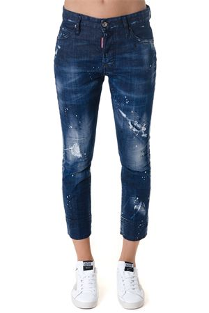 JEANS CROPPED LENGHT IN DENIM BLU AI 2018 DSQUARED2 | 4 | S72LB0129S30342470
