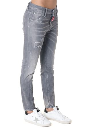JEANS IN DENIM GRIGIO VITA ALTA AI 2018 DSQUARED2 | 4 | S72LB0147S30260852