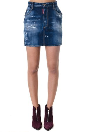 MINI SKIRT IN DENIM BLU AI 2018 DSQUARED2 | 26 | S72MA0692S30342470