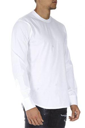 WHITE COTTON LOGO SWEATSHIRT FW 2018 DSQUARED2   19   S74GD0454S22427100