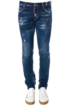 WORN OUT SLIM JEANS IN DENIM FW 2018 DSQUARED2   8   S74LB0441S30342470