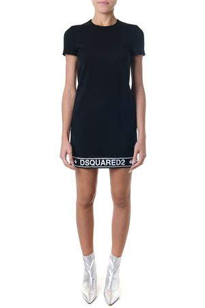 BLACK SHORT WOOL DRESS FW 2018 DSQUARED2 | 32 | S75CU0837S36258900