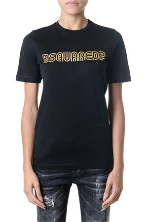 T-SHIRT DSQ2 NERA IN COTONE AI 2018 DSQUARED2 | 15 | S75GC0930S22844900