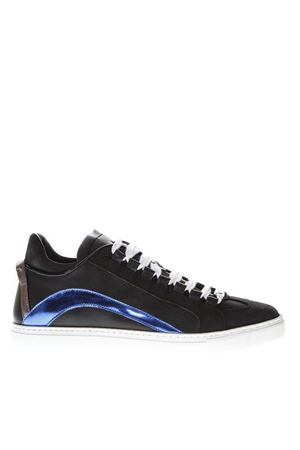 BLACK & BLUE CUT OUT SNEAKERS IN LEATHER FW 2018 DSQUARED2 | 55 | SNM000601500409M041