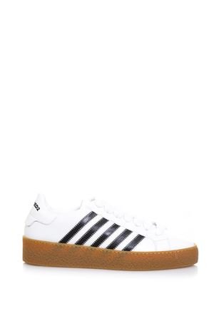 SNEAKERS BIANCA IN PELLE STRINGATA AI 2018 DSQUARED2 | 55 | SNM002106500001M072