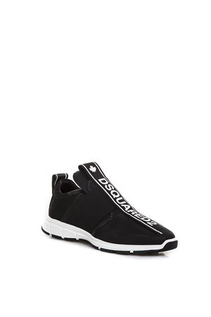 BLACK FABRIC SNEAKERS WITH LOGO BAND FW 2018 DSQUARED2 | 55 | SNM0027065002782124