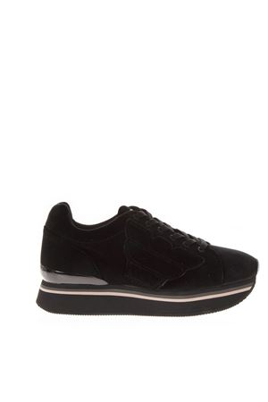 BLACK SYNTHETIC THICK SNEAKERS FW 2018 EMPORIO ARMANI | 55 | X3X057XD16300002