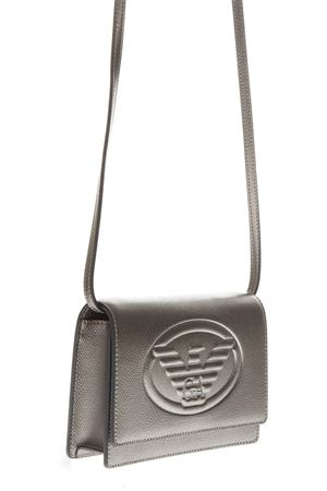 SILVER FAUX LEATHER SHOULDER BAG FW 2018 EMPORIO ARMANI | 2 | Y3B086YH18A80233