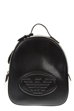BLACK SAFFIANO FAUX LEATHER BACKPACK FW 2018 EMPORIO ARMANI | 183 | Y3L024YH18A80001