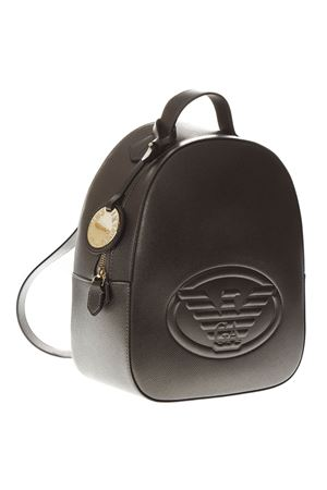 METAL SAFFIANO FAUX LEATHER BACKPACK FW18 EMPORIO ARMANI | 183 | Y3L024YH18A80233
