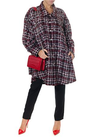 RED & LIGHT BLUE WOOL COAT WITH CHECKED PATTERN FW 2018 FAITH CONNEXION | 31 | W1802T00E361600