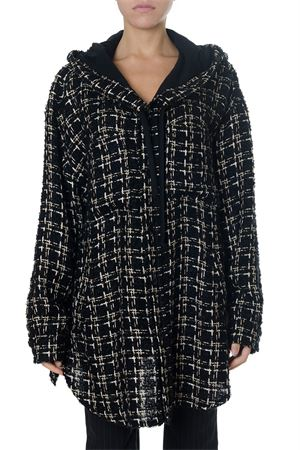 HOODED TWEED BLACK COAT FW 2018 FAITH CONNEXION | 16 | X1802T000371001