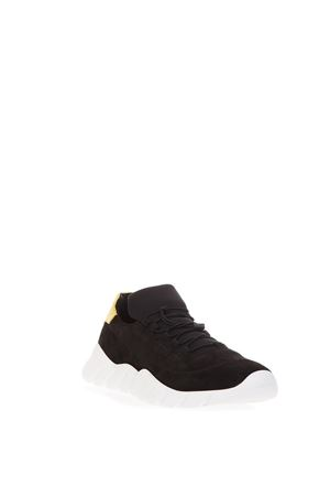 BLACK SUEDE SNEAKERS WITH LEATHER INSERT FW 2018 FENDI | 55 | 7E1174A3XJF13TE