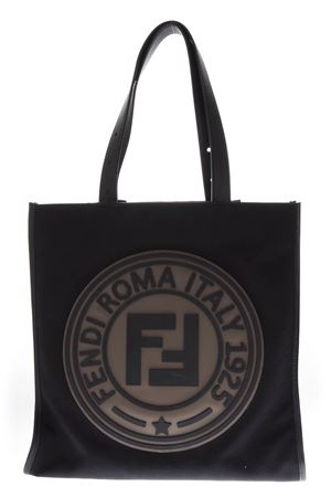 BLACK CANVAS TOTE WITH LOGO FENDI ROMA ITALY 1925 FW 2018 FENDI | 2 | 7VA435A4TJF147M