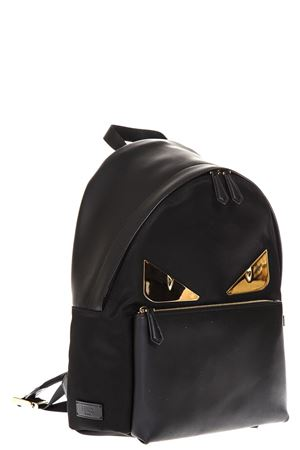 BAG BUGS BLACK LEATHER & NYLON  BACKPACK FW 2018 FENDI | 183 | 7VZ042A2FTF0KUR