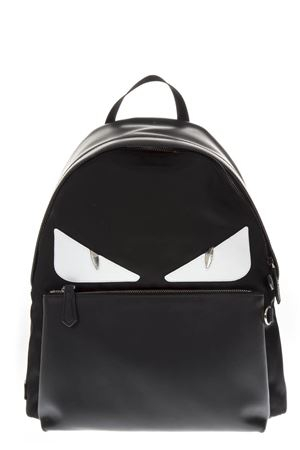 BAG BUGS BLACK LEATHER & NYLON  BACKPACK FW 2018 FENDI | 183 | 7VZ042A3DAF0CQT