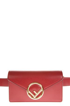 RED FENDI VERSATILE POUCH IN LEATHER FW 2018 FENDI | 2 | 8BM005A0KKF0MVV