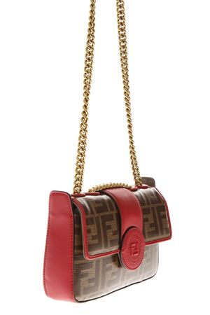 RED LOGO LEATHER SHOULDER BAG FW 2018 FENDI | 2 | 8BS016A5K4F14RS