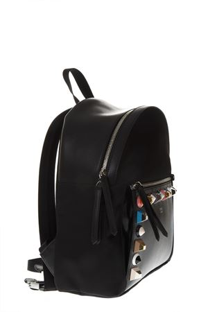 STUDDED BLACK FABRIC AND LEATHER BACKPACK FENDI | 183 | 8BZ035A0QOF0X93