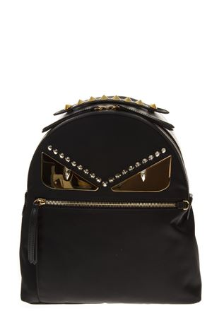BLACK BACKPACK IN NYLON AND LEATHER FW 2018 FENDI | 183 | 8BZ035A3KTF0KUR
