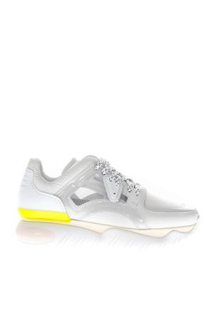 WHITE TECHNICAL MESH AND LEATHER SNEAKERS FW 2018 FENDI | 55 | 8E6791AK0SF14Y6