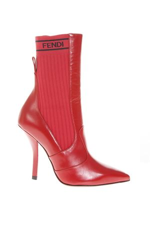RED SOCKS ANKLE BOOTS IN LEATHER FW 2018 FENDI | 52 | 8T6645A1GEF10C2