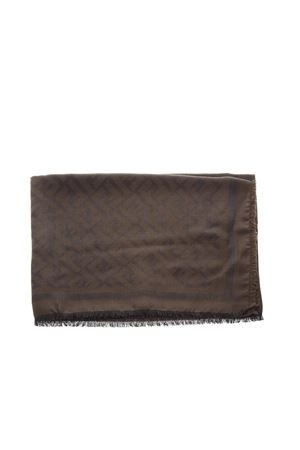 FF LOGO SCARF IN BROWN WOOL-SILK BLEND SCARF FW 2018 FENDI | 20 | FXS2962TEF0586