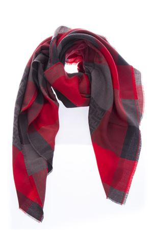 RED & GRAY CHECKED  WOOL SCARF FW 2018 FENDI | 20 | FXS323X1CF0QU6