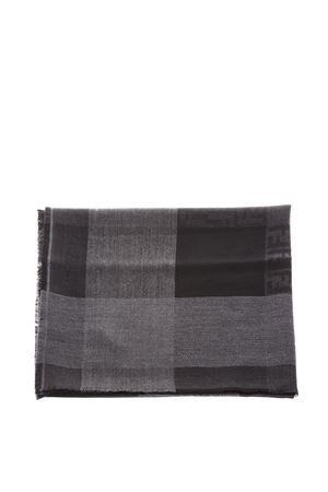BLACK & GRAY CHECKED  WOOL SCARF FW 2018 FENDI | 20 | FXS323X1CF0WB5