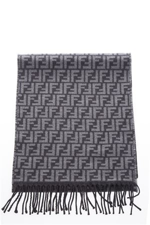 ANTHACITE PURE WOOL SCARF WITH MONOGRAM FW 2018 FENDI | 20 | FXS366A4Z4F0QK5