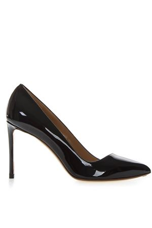PUMPS IN PELLE VERNICIATA NERA PE 2018 FRANCESCO RUSSO | 68 | R1P340N202BLACK