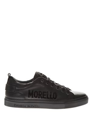 BLACK LEATHER LOGO SNEAKERS FW 2018 FRANKIE MORELLO | 55 | 6200VARIANTEB