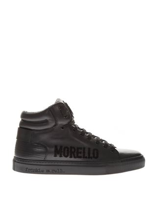 BLACK LEATHER HIGH TOP LOGO SNEAKERS FW 2018 FRANKIE MORELLO | 55 | 6201VARIANTEB