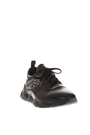 BLACK LEATHER & NYLON SNEAKERS FW 2018 FRANKIE MORELLO | 55 | 6236VARIANTEB