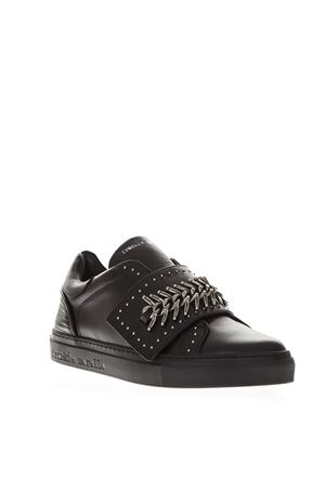 BLACK LEATHER SLIP ON MINI STUDS SNEAKERS FW 2018 FRANKIE MORELLO | 55 | 6306CALFNERO