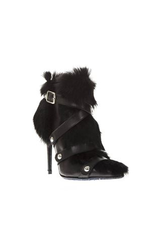 BLACK LEATHER & FUR ANKLE BOOTS FW 2018 FRANKIE MORELLO | 52 | 6318VARIANTEB