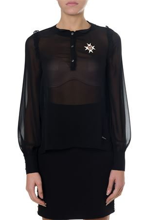 BLACK SHEER FABRIC BLOUSE FW 2018 FRANKIE MORELLO | 9 | FWCF8188CADEENAN01