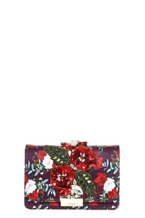 CLIKY EMBELLISHED ROSES PRINT CLUTCH FW 2018 GEDEBE | 2 | CLIKYNAPPA PRINTRED BURGUNDY