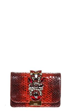 CLIKY RED PYTHON CLUTCH FW 2018 GEDEBE | 2 | CLIKYPYTHONRED SHADOW