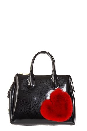BLACK FUR HEART RUBBER BAG FW 2018 GIANNI CHIARINI | 2 | BS1740TFUR HEART9434