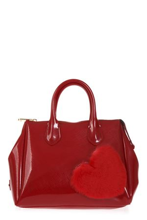 RED FUR HEART RUBBER BAG FW 2018 GIANNI CHIARINI | 2 | BS1740TFUR HEART9436