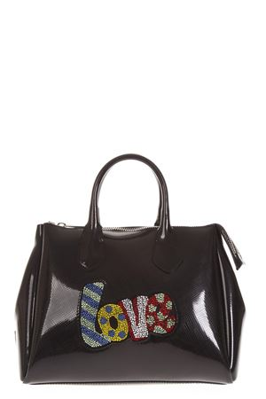 BLACK POP LOVE FOURTY PATENT BAG FW 2018 GIANNI CHIARINI | 2 | BS1740TPOP LOVE9434