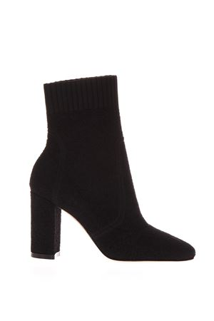 BLACK STRETCH KNIT ANKLE BOOTS FW 2018 GIANVITO ROSSI | 52 | G7033185RICBLACK