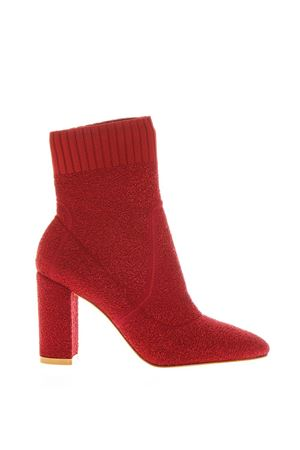 RED STRETCH KNIT ANKLE BOOTS FW 2018 GIANVITO ROSSI | 52 | G7033185RICGRANATA