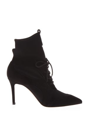 JENNA BLACK ELASTIC SUEDE ANKLE BOOTIE FW 2018 GIANVITO ROSSI | 52 | G7382785RICBLACK